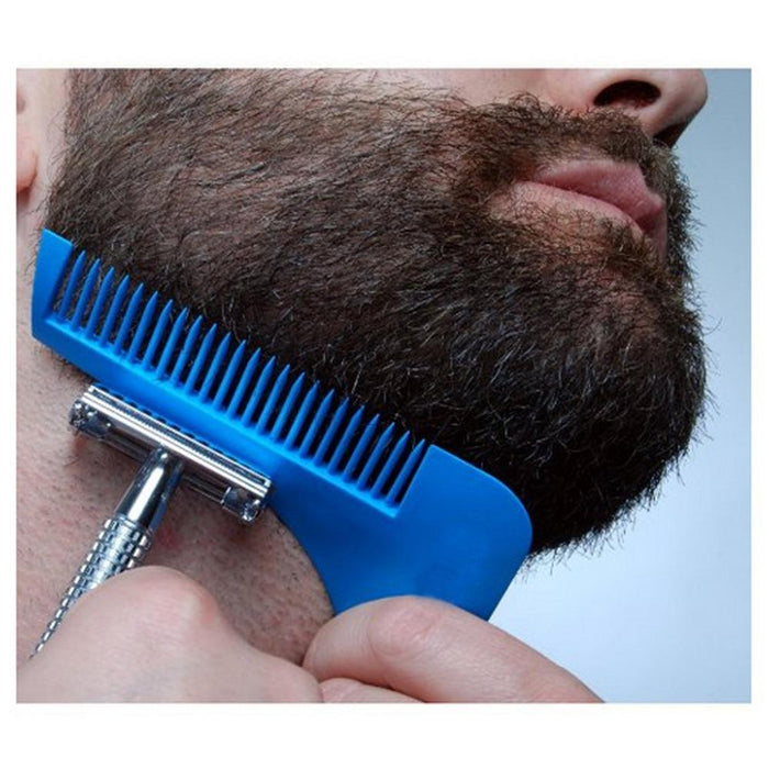 3-in-1 Beard Styling Trimming Precision Tool, Comb, and Mini Brush