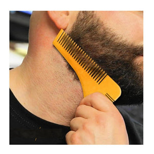 3-in-1 Beard Styling Trimming Precision Tool, Comb, and Mini Brush - Hooked On Saving