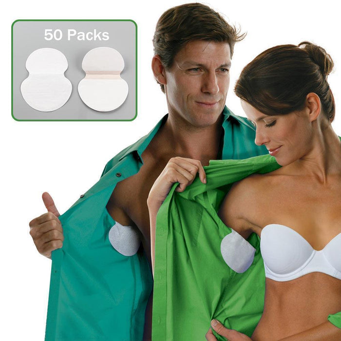 Premium Quality Armpit Disposable Sweat Pads 100 Pieces (50 Pairs)