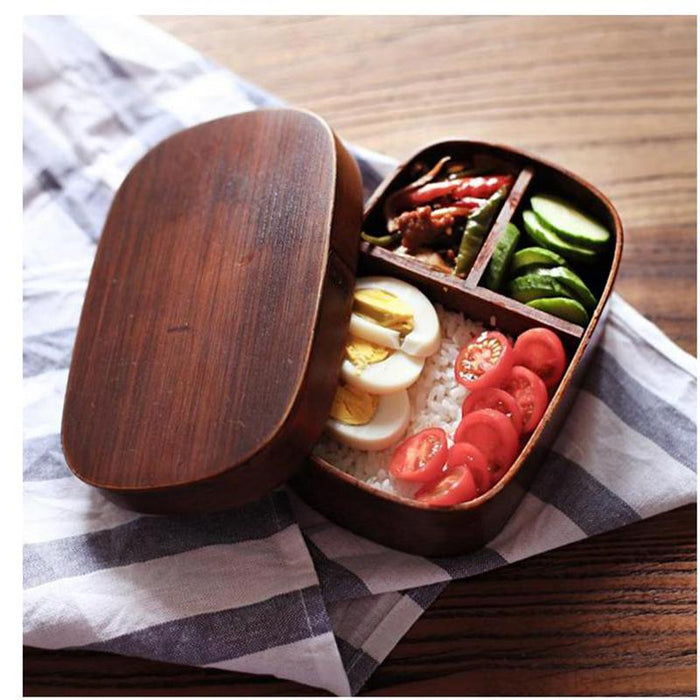 Japanese Handmade Polished Wood Bento Box