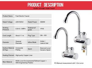 Tankless Water Heating Kitchen Faucet - Hooked On Saving