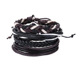 Men Multi-Layer Leather Bracelet - Hooked On Saving