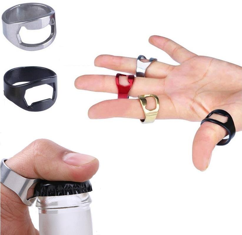 Stainless Steel Finger Ring Bottle Opener - Hooked On Saving