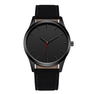 The Humble Man - Men Leather Band Quartz Watch - Hooked On Saving