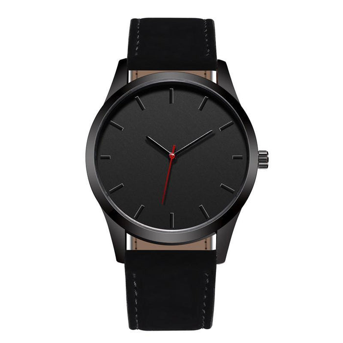 The Humble Man - Men Leather Band Quartz Watch