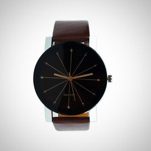 The Tux Watch - Men Leather Band Quartz Watch - Hooked On Saving