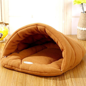 Super Cozy Fleece Cocoon Bed for Cats and Dogs - Hooked On Saving