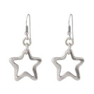 DANON SILVER EARRINGS WITH STAR OUTLINE DROP