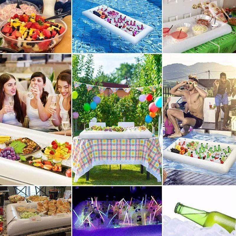 Inflatable serving drink salad ice bar cooler for parties bbq picnic pool