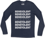 Long Sleeve T-Shirt S / Navy Benevolent Long Sleeve T-Shirt Benevolent Long Sleeve T-Shirt  | Midnight LAW India | Vintage Fashion