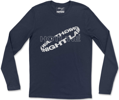 Long Sleeve T-Shirt S / Navy Hotline Long Sleeve T-Shirt