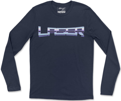 Long Sleeve T-Shirt S / Navy Laser Long Sleeve T-Shirt
