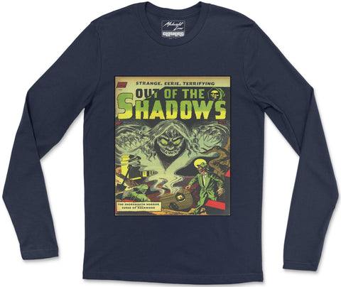 Long Sleeve T-Shirt S / Navy Out of Shadows Long Sleeve T-Shirt