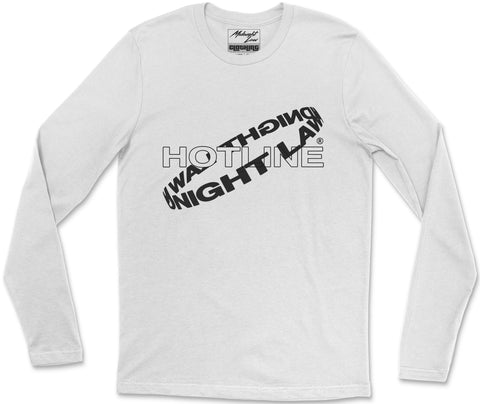 Long Sleeve T-Shirt S / White Hotline Long Sleeve T-Shirt