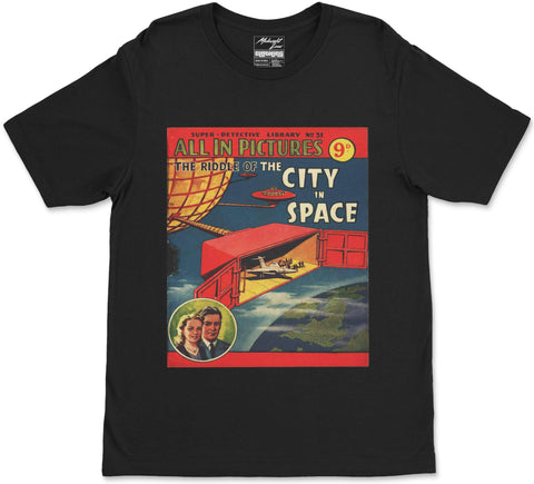 S / Black City in Space T-Shirt City in Space T-Shirt | Midnight LAW India | Vintage Street Fashion