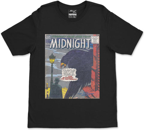 S / Black Midnight T-Shirt Midnight T-Shirt | Midnight LAW Clothing | Aesthetic Streetwear India