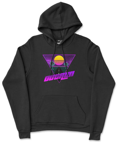 S / Black Outrun Hoodie Outrun Hoodie | Midnight LAW Clothing | Aesthetic Streetwear India