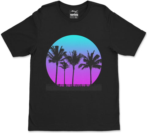 S / Black Palm Breeze T-Shirt Palm Breeze T-Shirt | Midnight LAW Aesthetic Streetwear