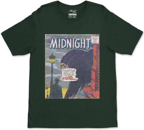 S / Forest Green Midnight T-Shirt Midnight T-Shirt | Midnight LAW Clothing | Aesthetic Streetwear India