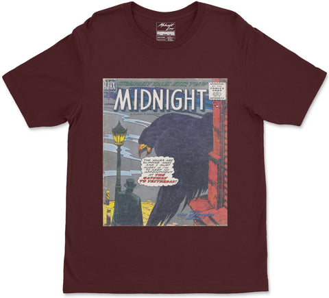 S / Maroon Midnight T-Shirt Midnight T-Shirt | Midnight LAW Clothing | Aesthetic Streetwear India