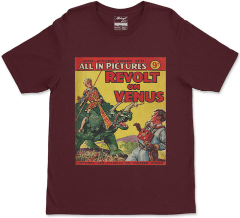 S / Maroon Revolt on Venus T-Shirt Revolt on Venus T-Shirt | Midnight LAW India | Vintage Street Fashion