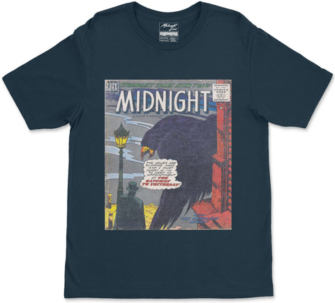 S / Midnight Blue Midnight T-Shirt Midnight T-Shirt | Midnight LAW Clothing | Aesthetic Streetwear India