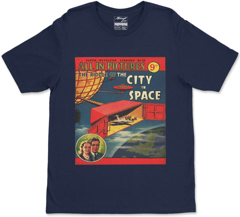 S / Navy Blue City in Space T-Shirt City in Space T-Shirt | Midnight LAW India | Vintage Street Fashion