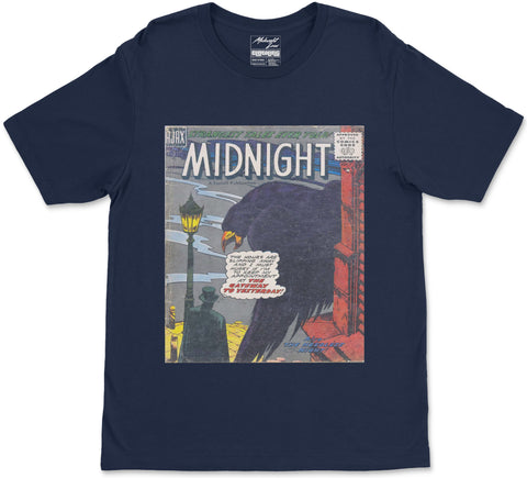 S / Navy Blue Midnight T-Shirt Midnight T-Shirt | Midnight LAW Clothing | Aesthetic Streetwear India