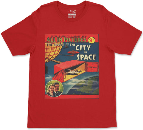 S / Red City in Space T-Shirt City in Space T-Shirt | Midnight LAW India | Vintage Street Fashion