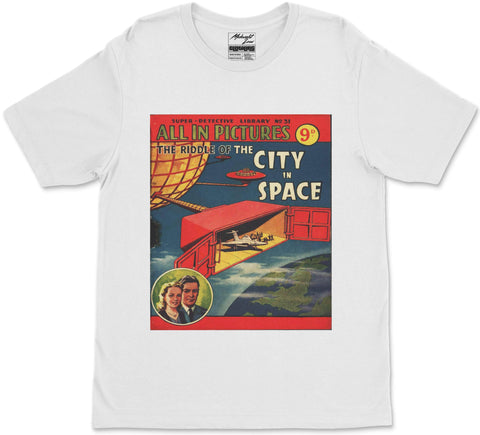 S / White City in Space T-Shirt City in Space T-Shirt | Midnight LAW India | Vintage Street Fashion