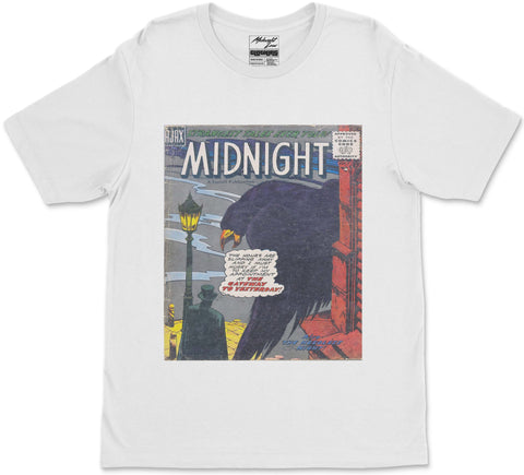 S / White Midnight T-Shirt Midnight T-Shirt | Midnight LAW Clothing | Aesthetic Streetwear India