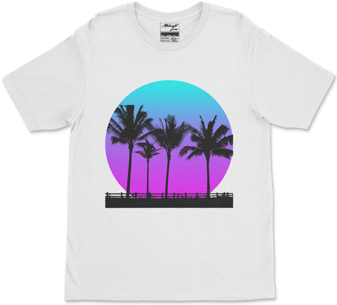 S / White Palm Breeze T-Shirt Palm Breeze T-Shirt | Midnight LAW Aesthetic Streetwear