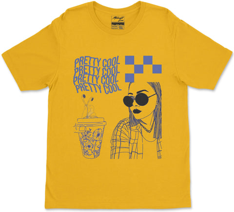 S / Yellow Pretty Cool T-Shirt Pretty Cool T-Shirt | Midnight LAW Clothing | Aesthetic Streetwear