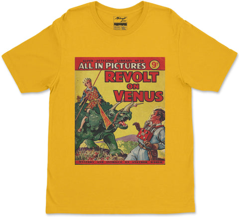 S / Yellow Revolt on Venus T-Shirt Revolt on Venus T-Shirt | Midnight LAW India | Vintage Street Fashion