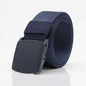Outdoor Men and Women Nylon Belt Pants with Breathable Plastic Buckle Belt