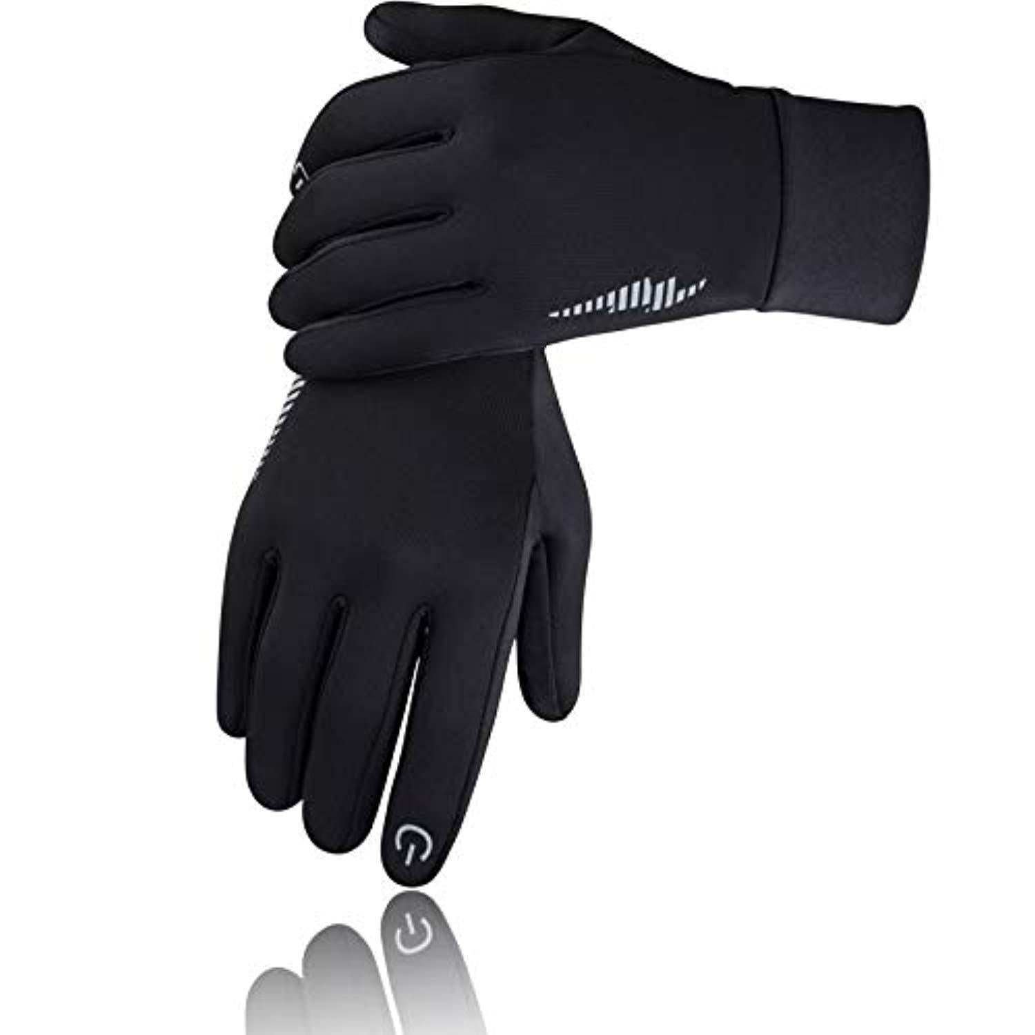 Texting Gloves Gray Black Stripes Ladies Touch Screen Smart Phone Compatible