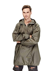 4ucycling Raincoat Easy Carry Rain Coat Jacket Poncho in a Pouch Outdoor, Army Green Lightweight