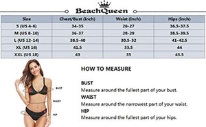 BeachQueen Sexy One Piece Swimsuits for Women Halter Plunge Deep V Neck High Leg Cutout Monokini Bathing Suits