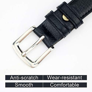Womens Belt Skinny Leather Solid Color Pin Buckle Simple Waist Packing for Girls Ladies