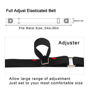 No Buckle Invisible Elastic Stretch Belt for Men/Women Fits waist 24-50in