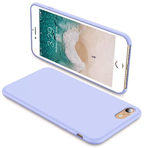 TORRAS [Love Series iPhone 8 Case/iPhone 7 Case, Liquid Silicone Gel Rubber Case Soft Microfiber Cloth Lining Cushion Compatible iPhone 8 2017/ iPhone 7 2016, Light Blue