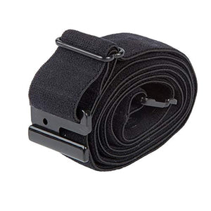 Adjustable Stretch Belt: No Show Flat Buckle, Non-Slip Backing