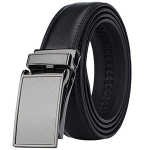 Men's Comfort Genuine Leather Ratchet Dress Belt with Automatic Click Buckle
