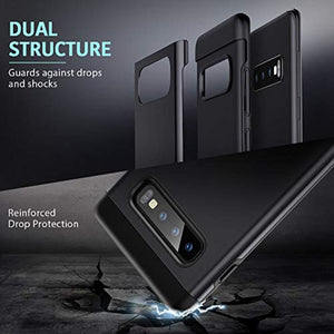 ESR Metal Kickstand Case Compatible with The Samsung Galaxy S10 Plus, [Vertical and Horizontal Stand] [Reinforced Drop Protection] Hard PC Back with Flexible TPU Bumper for S10 Plus, Black