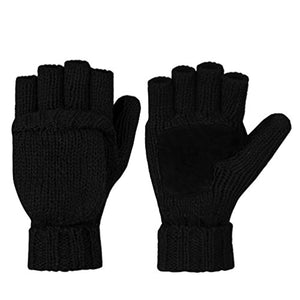Vbiger Winter Gloves Warm Wool Mittens With Mitten Cover