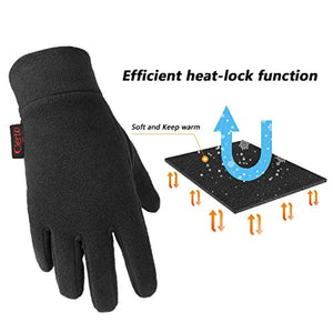 Winter Gloves For Men And Women Hand Protection Polar Fleece And Cotton Lining