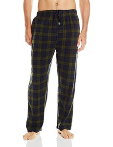 Essentials by Seven Apparel Men's Long-Sleeve Top and Fleece Bottom Pajama Set