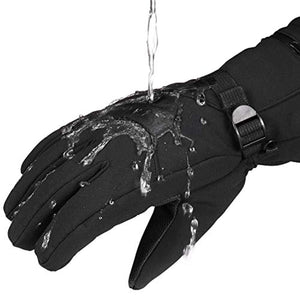 Ski Gloves - VELAZZIO Waterproof Breathable Snowboard Gloves, 3M Thinsulate Insulated Warm Winter Snow Gloves, Fits both Men & Women