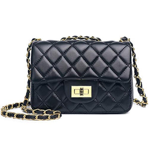 Volcanic Rock Women Quilted Crossbody Bag Girls Side Purse and Shoulder Handbags Designer Clutch with Chain