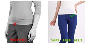 Buckle-less No Bulge Belt for Women, No Buckle and Hassle Women Invisible Belts.